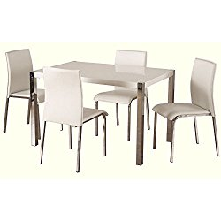 Charisma High Gloss White Rectangular Dining Set