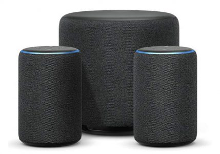 Image of Echo Sub and Amazon Echo