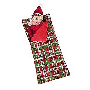 Picture of an elf in a sleeping bag