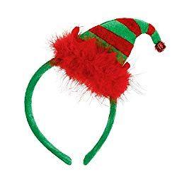 Stripey elf hat headband