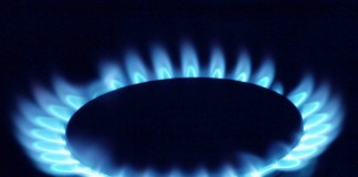 Picture of gas flame
