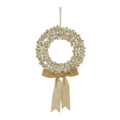 Image of Gold Sleigh Bell Wreath