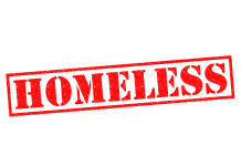 Image of the word homeless