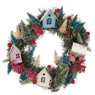 House LED Lit Wreath