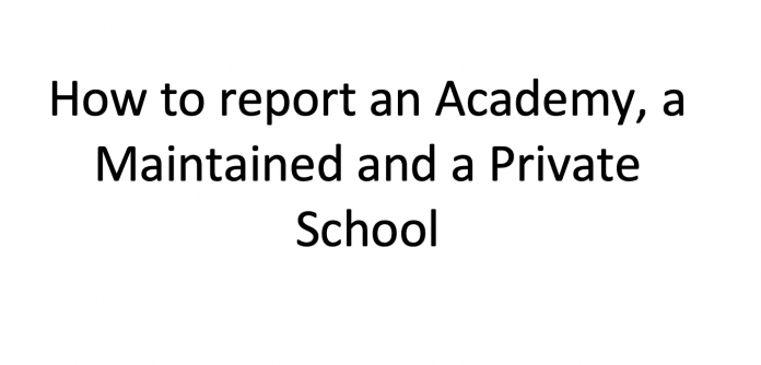How to report a school