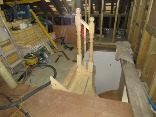 View of loft stairs from conversion