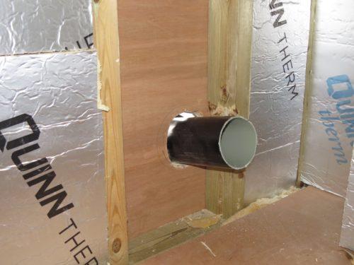 Internal view of soil pipe