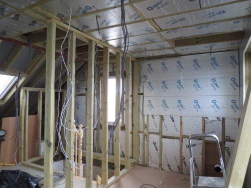 Internal wall between hallway and bathroom