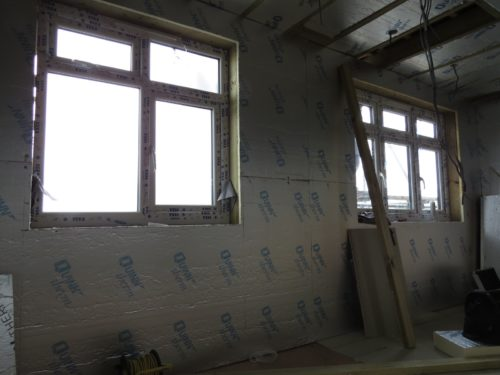 Internal view of rear loft bathroom and bedroom windows