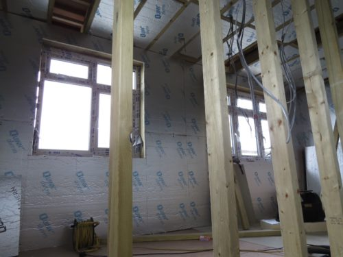 Internal view of rear loft windows (bathroom and bedroom)