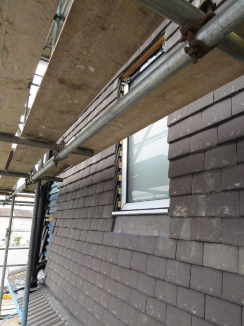 External view of side loft window