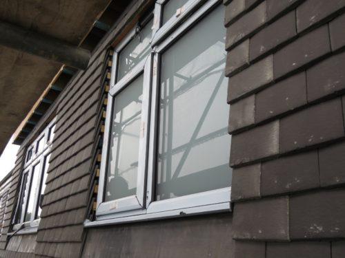 External view of rear loft bathroom window