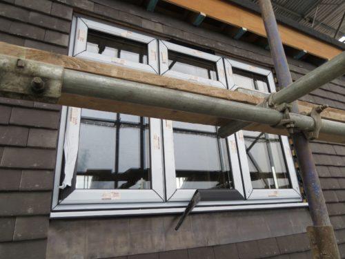 External view of rear loft bedroom window