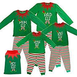 Image of elf pyjamas
