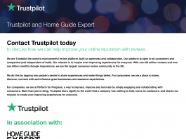 Image of Trust Pilot in association with Home Guide Expert