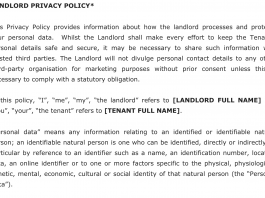 Image of a Landlord Privacy Policy
