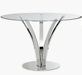 Image of glass dining table