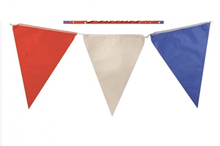 VE Day home decorations Red White and Blue Bunting