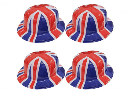 VE Day Home Decorations Union Jack Bowler Hats
