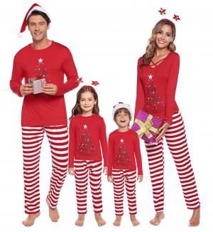 Red Matching Family Christmas Pyjamas
