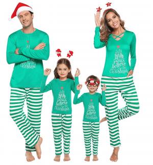 Green matching Family Christmas Pyjamas