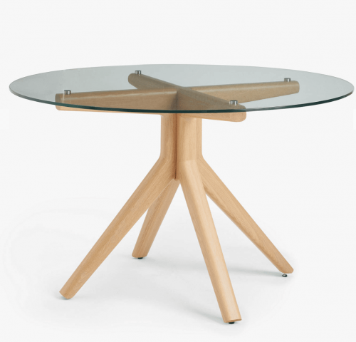 Glass 6 Seater Round Dining Table