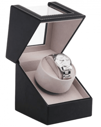 Watch Winders Dust-Proof Box Leather Automatic Single Watch Winder