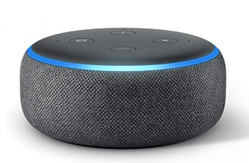 Echo Dot (3rd Gen) - Smart speaker with Alexa - Charcoal Fabric