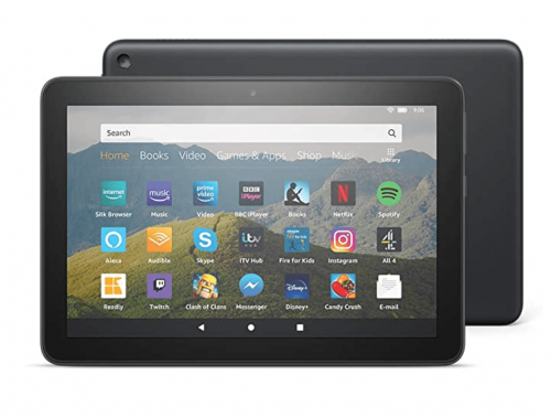 "All-New Fire HD 8 Tablet, 8"" HD display, 32 GB, Black with Special Offers, designed for portable entertainment"