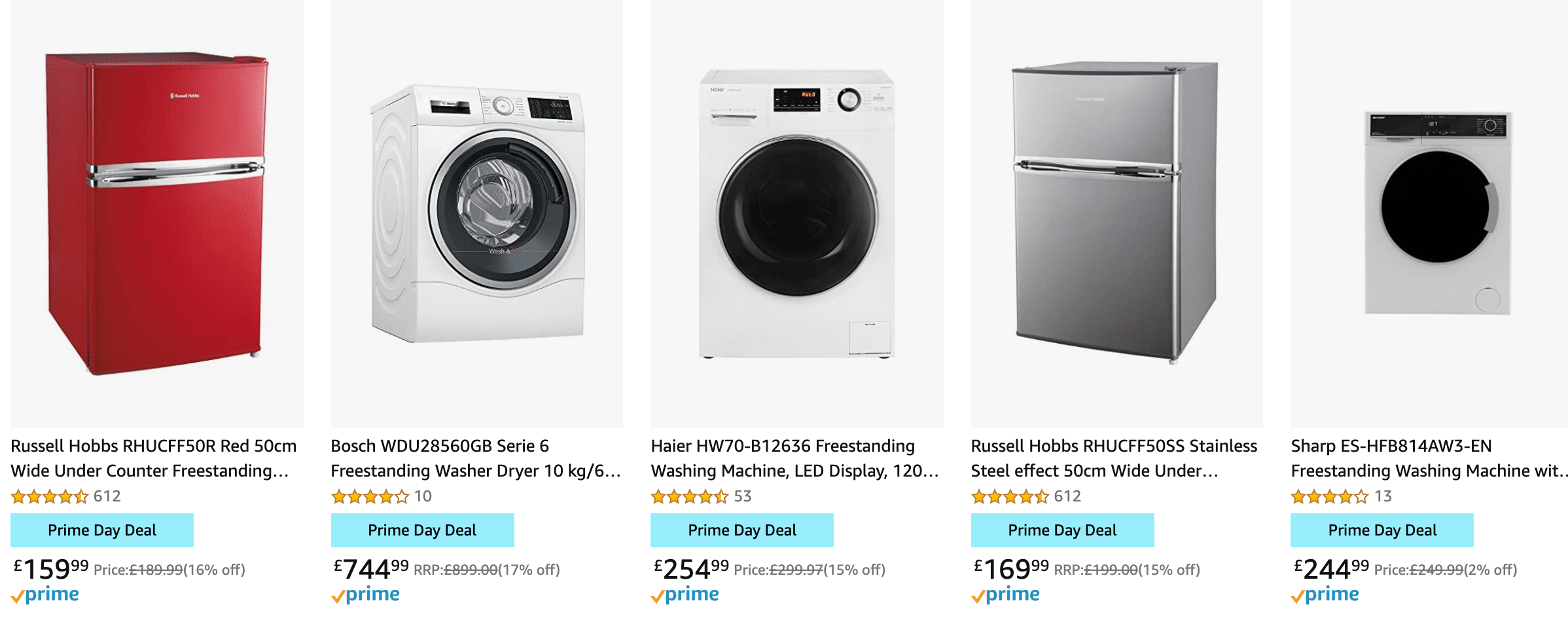Large Appliances Amazon Prime Day