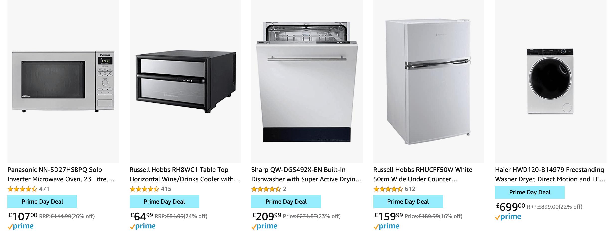 Large Appliances Amazon Prime Day