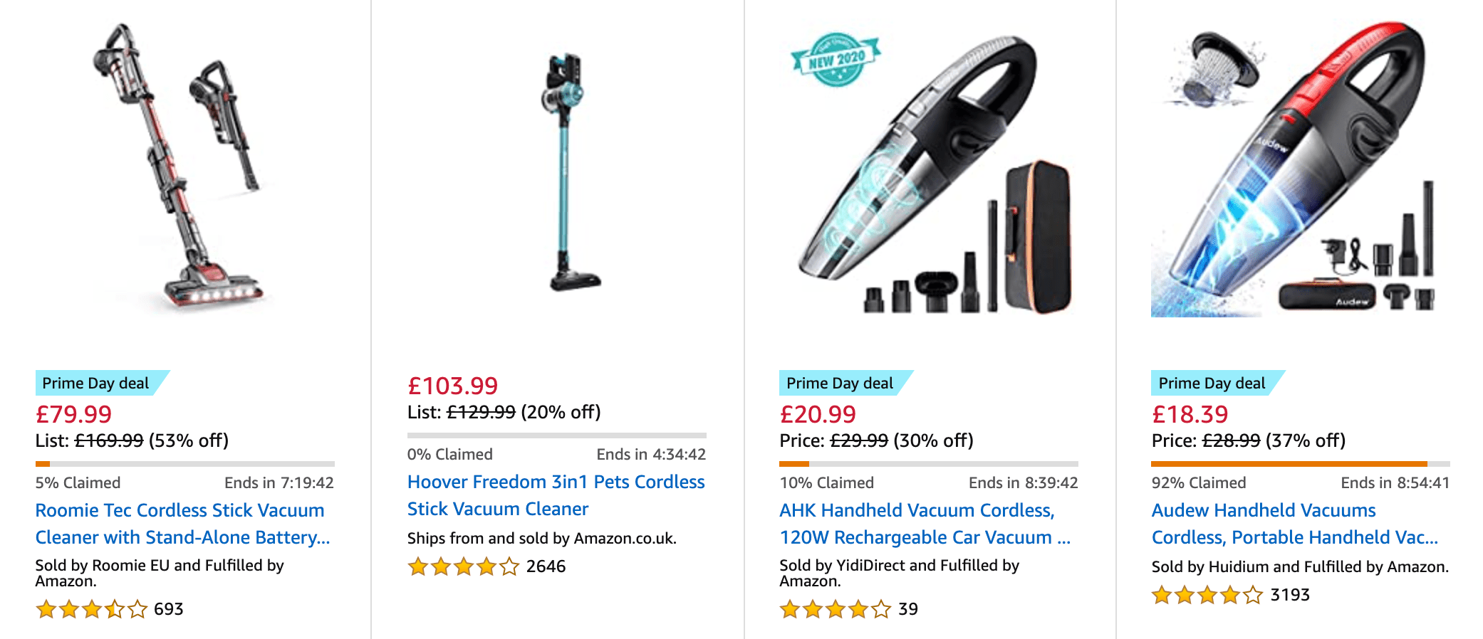 Amazon Prime Day vacuum cleaner offers