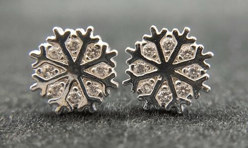 Snowflake Silver Earrings