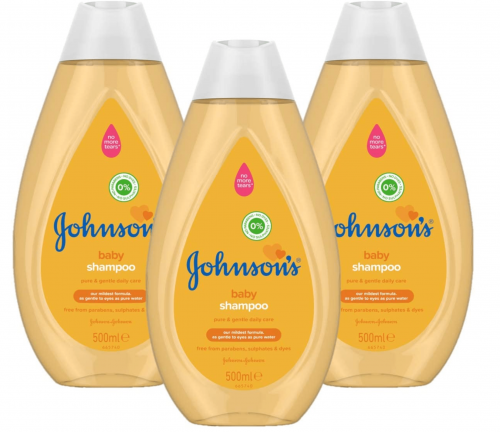 JOHNSON'S Baby Shampoo Multipack - Gentle and Mild for Delicate Skin and Everyday Use - pH Balanced for Delicate Skin - 3 x 500 ml