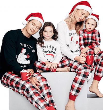 Christmas Bear inspired matching family Christmas pyjamas