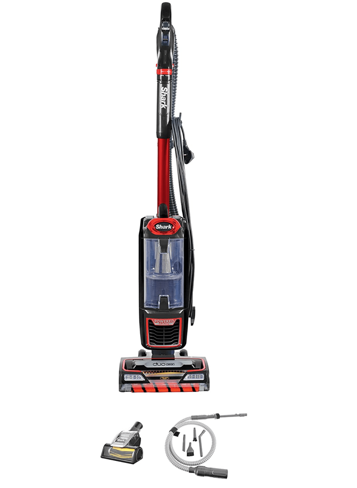 Shark Upright Vacuum Cleaner, AMAZON exclusive [NZ801UKTSB] Anti-Hair Wrap, Pet Brush, Car Detail Kit, Red & Black