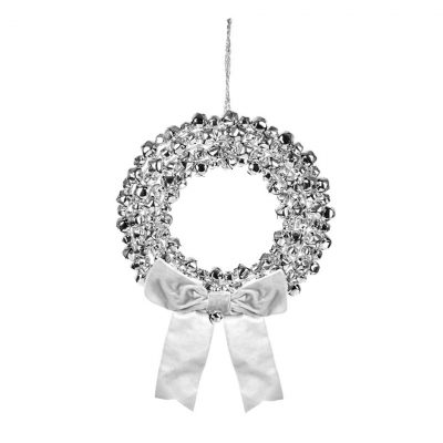 Image of Silver Sleigh Bell Wreath