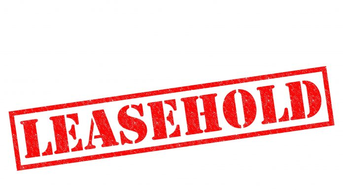Image of the word leasehold on a white background
