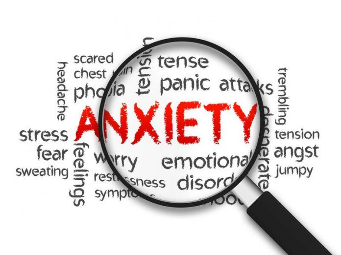 Image of the words anxiety