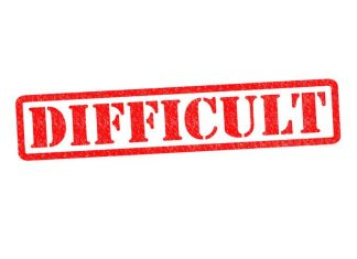 Image of the word difficult