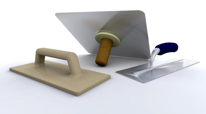 Image of plastering tools