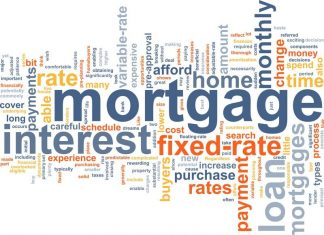 Image of the word Mortgage on a white background