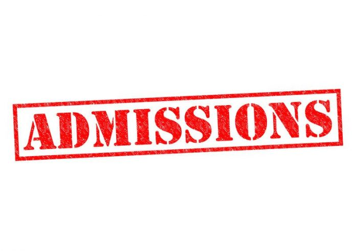 Image of the word admissions