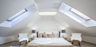 Image of a bedroom in a loft conversion