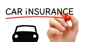 Image of a vehicle and word car insurance