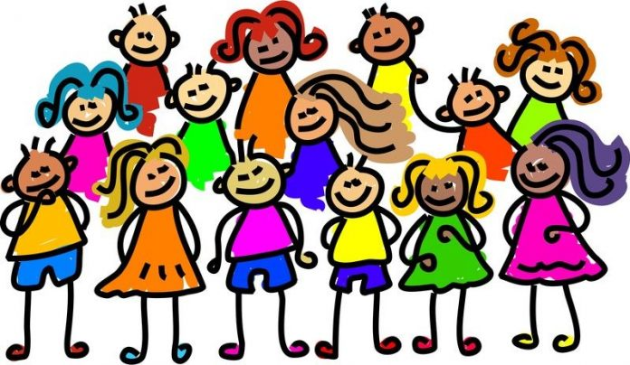 Image of a group of children