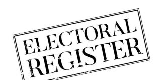 Canstock Image of the words Electoral Register