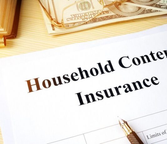 Image of the words Contents Insurance