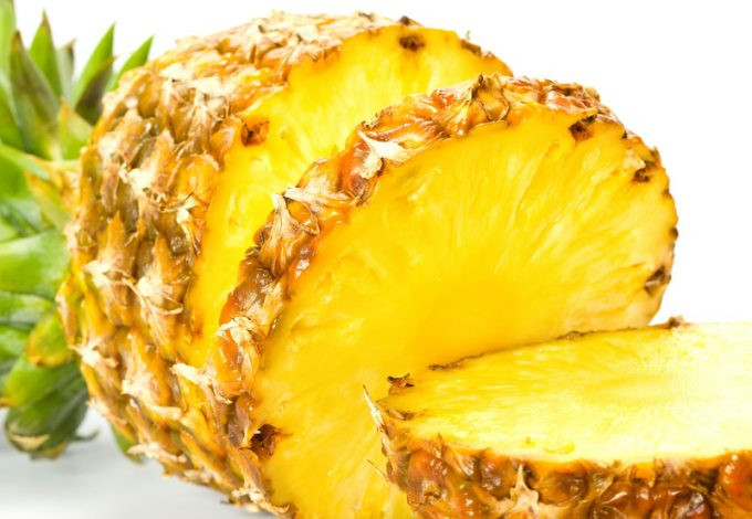 Image of a Pineapple on a which background