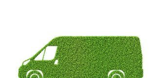 Image of a van made from grass